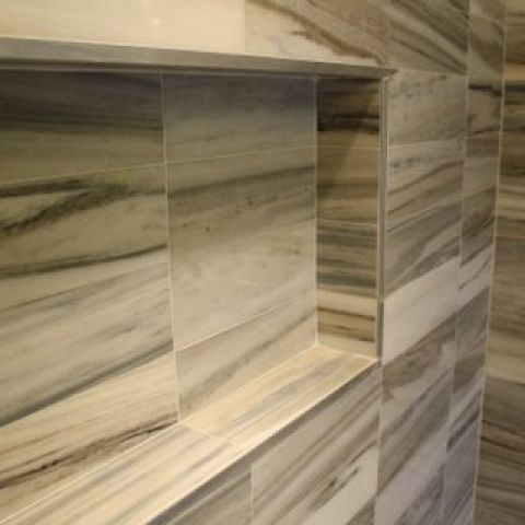 Cruzan project - Island rambler rennovation - master bathroom tile detail