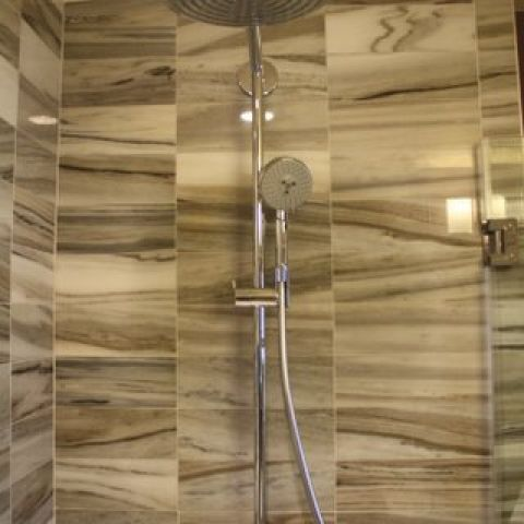 Cruzan project - Island rambler rennovation - master shower head detail