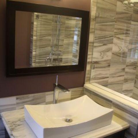 Cruzan project - Island rambler renovation - master bathroom sink detail