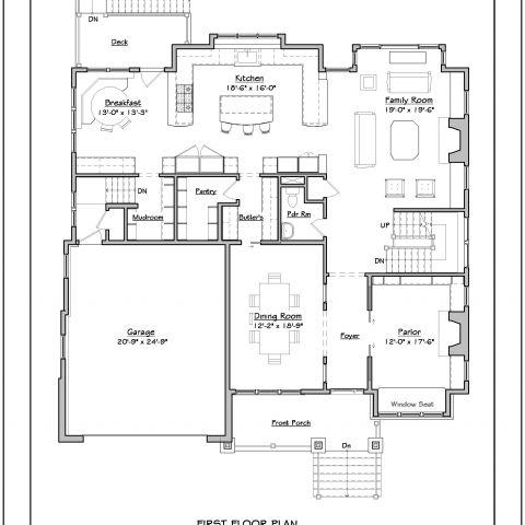 first floor plan - tatari dillon project - ballard & mensua