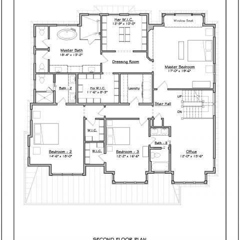 second floor plan - tatari dillon project - ballard & mensua