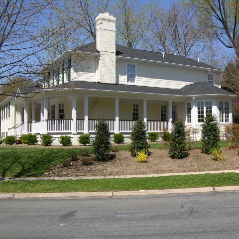 Left front exterior of home by Ballard & Mensua