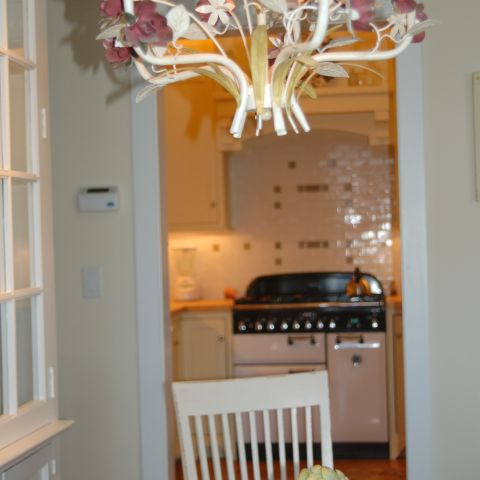 Enrico-Easton - waterfront cottage renovation - dining room chandelier