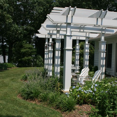 Enrico-Easton - waterfront cottage renovation - exterior portico