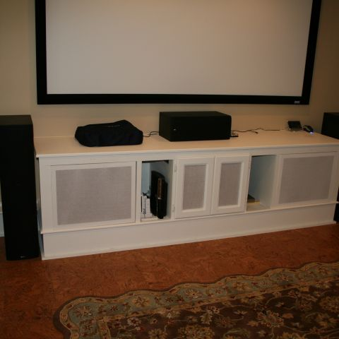 Enrico-Easton - waterfront cottage renovation - family room entertainment system