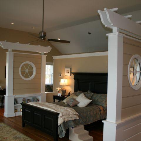 Enrico-Easton - waterfront cottage renovation - master bedroom after