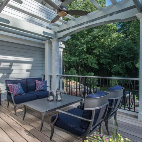 back patio seating - McLean waterfront - Graham project