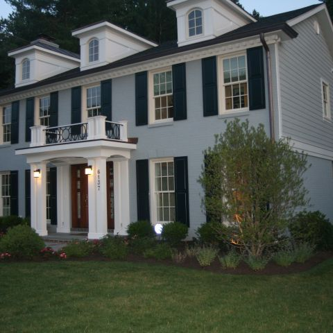 front right home at dusk - McLean waterfront - Graham project