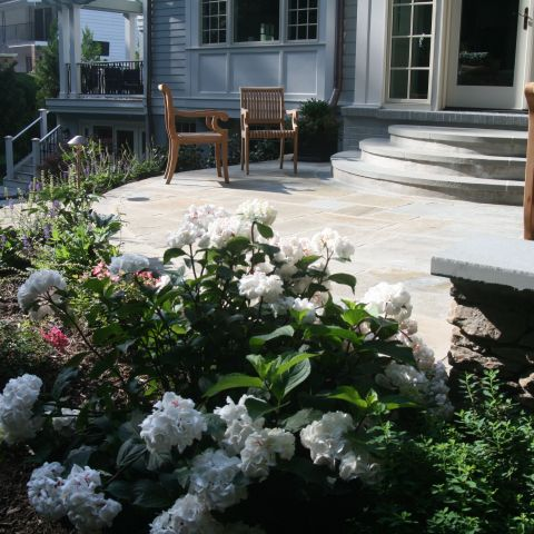 back patio detail - McLean waterfront - Graham project