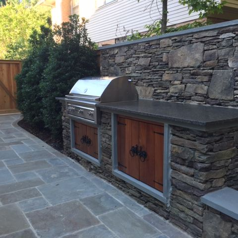 built in barbeque detail - McLean waterfront - Graham project