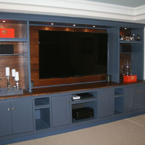 basement theater entertainment system - McLean waterfront - Graham project