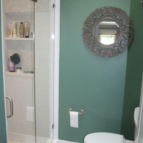master bathroom shower detail