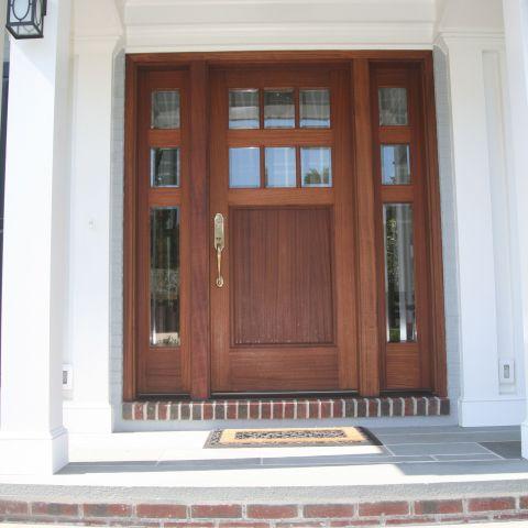 exterior front door package - McLean waterfront - Graham project