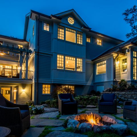 back of home by night - McLean waterfront - Graham project