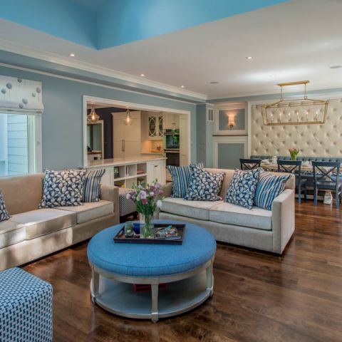 family room detail - McLean waterfront - Graham project