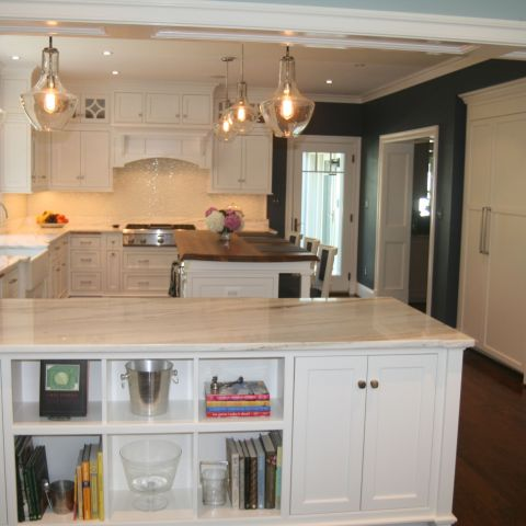 kitchen built ins and island - McLean waterfront - Graham project