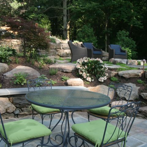lower patio - McLean waterfront - Graham project
