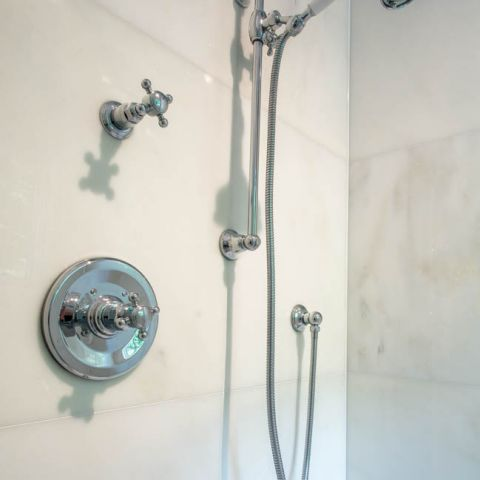 shower fixtures for master bath - McLean waterfront - Graham project