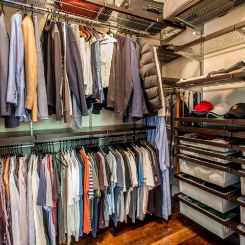 his master closet - McLean waterfront - Graham project