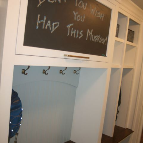 mudroom with builtins - McLean waterfront - Graham project