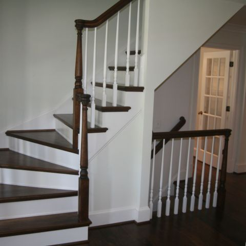 staircase detail and staining - McLean waterfront - Graham project