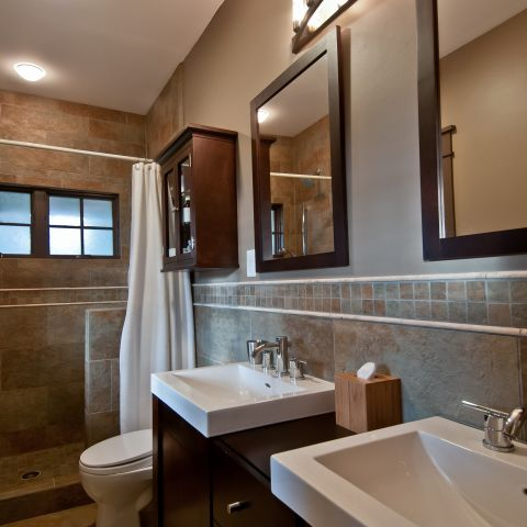 Henry project's master bathroom after renovation