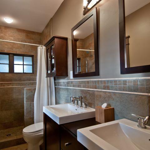 Henry project's master bathroom after renovation