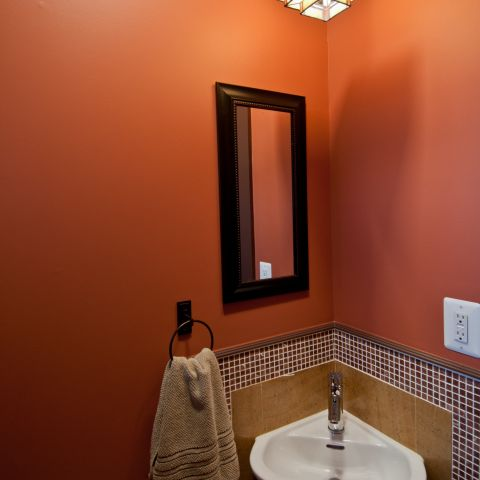 Henry project's small powder room