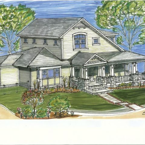 Henry Project's Rendering of the Front Exterior
