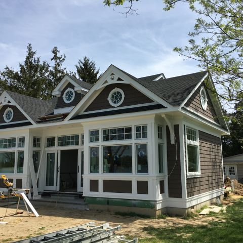 side exterior view - shore house - karminski project
