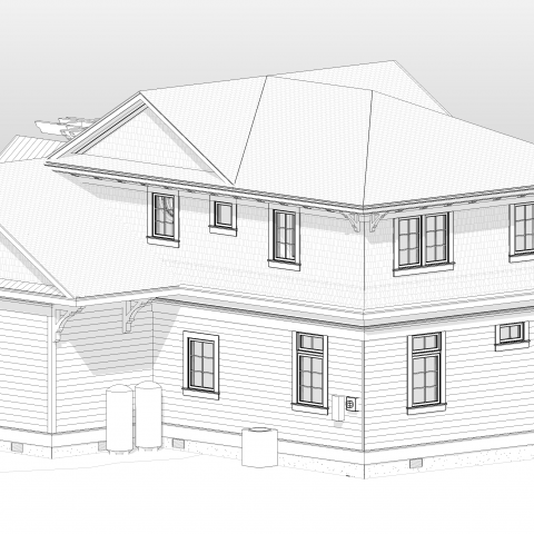 left front proposed rendering - shore house - karminski project