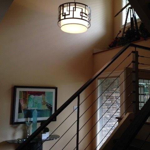 foyer lighting and details in the home for empty nesters