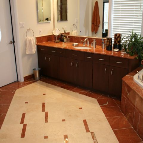 tile detail in the master bathroom - Empty Nesters Home