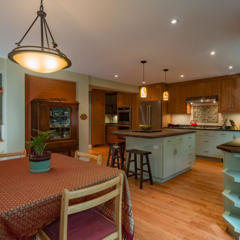 dining room towards kitchen - Two story renovation - Loucks project