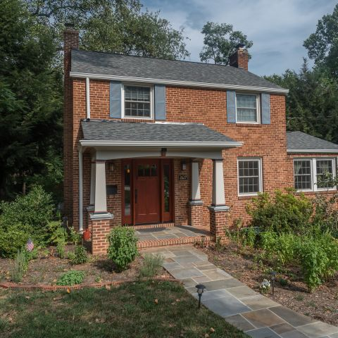 Front left view - Two story renovation - Loucks project