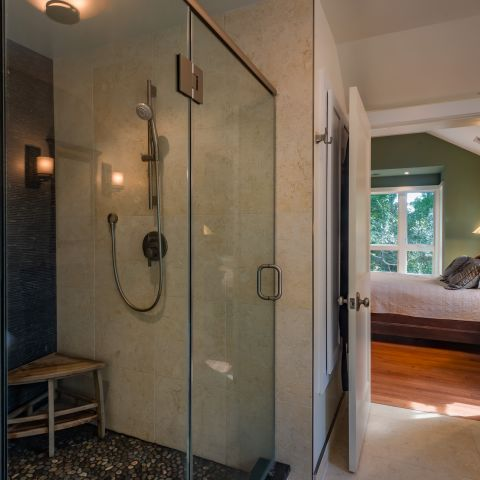 master bath shower detail - Two story renovation - Loucks project