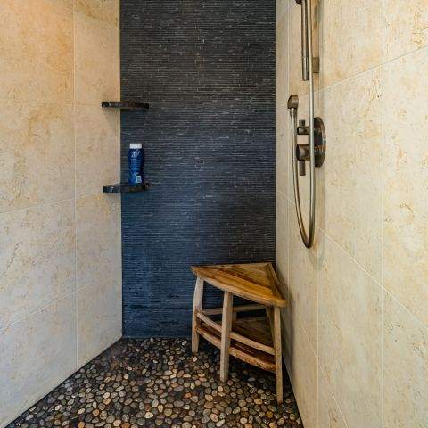 shower tile work detail - Two story renovation - Loucks project
