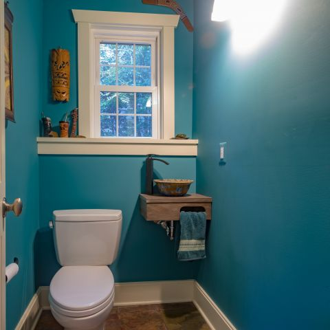 powder room - Two story renovation - Loucks project