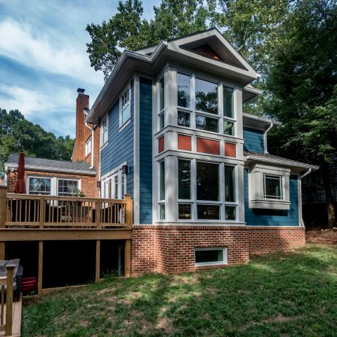 right rear view - Two story renovation - Loucks project