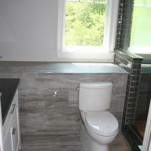 attic bathroom with window - McLean renovation - Smith project