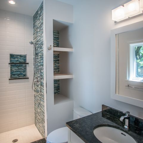 bathroom and shower - McLean renovation - Smith project