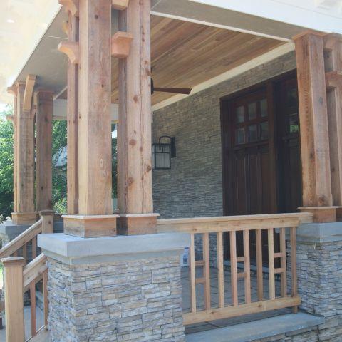 exterior porch detail - McLean renovation - Smith project