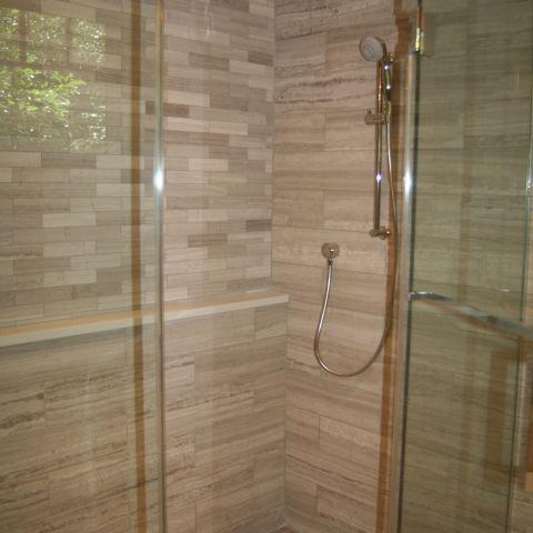 master bathroom shower tiling - McLean renovation - Smith project