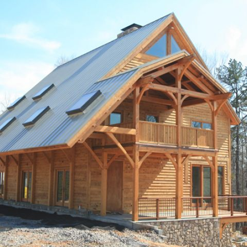 Custom timber frame home ballard mensua architecture for Custom a frame homes